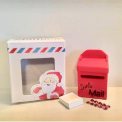 Santa mail box and foot prints