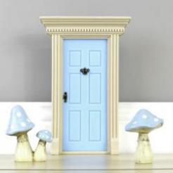 Fairy Door, blue