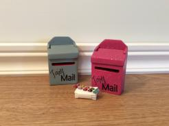 Sparkle Mail Boxes .. Wedgewood Blue, Bubble Gum Pink
