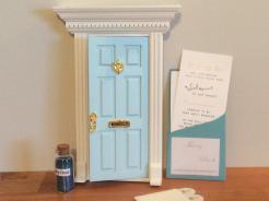 Opening blue fairy door