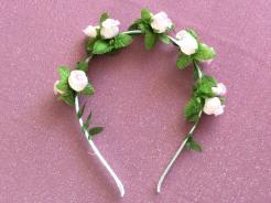 Pale Pink Flower head band