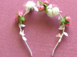 Pink and White Head Piece