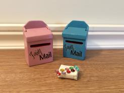 Sparkle Mail Boxes .. Rose Pink, Turquoise