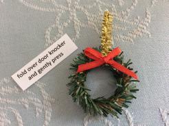 Xmas wreath on Fairy Door