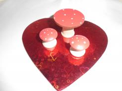 Mini Mushroom table set, 3 pc.