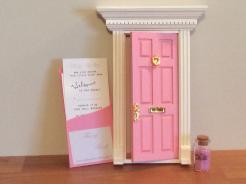 opening fairy door, pink