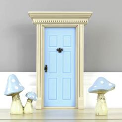 Blue fairy doors